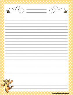 Printable Winnie The Pooh Stationery Printables