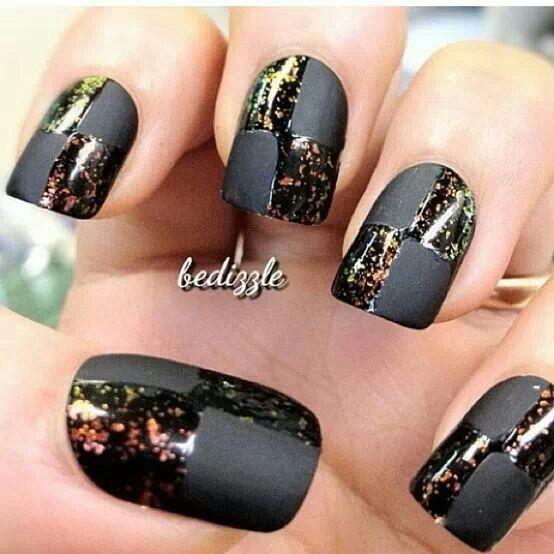 Cool Black Nail Polish Designs