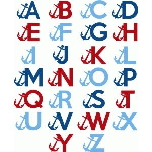 Silhouette Design Store: nautical alphabet - capital letters