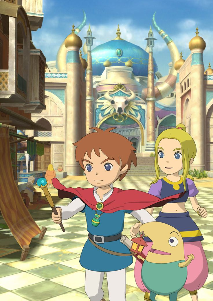 Oliver, Drippy, & Esther - Pictures & Characters Art - Ni No Kuni