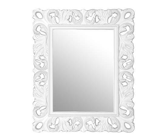espejo en fibra barroco u blanco