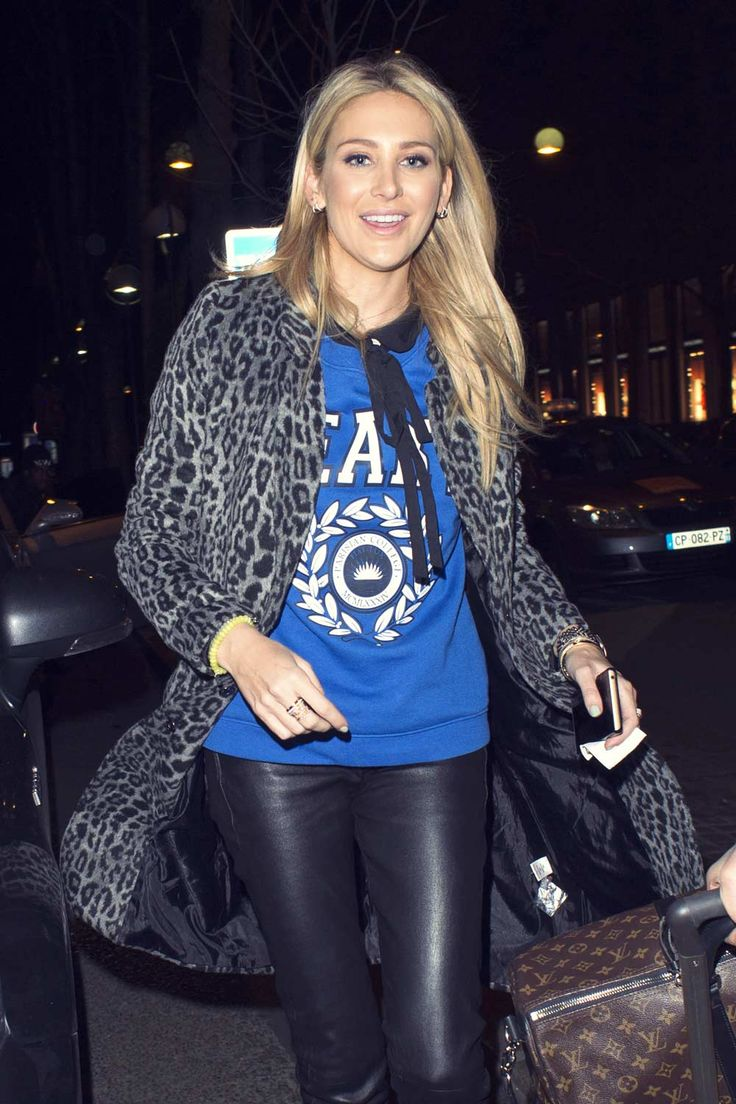 Stephanie Pratt at the Hotel Plaza Athenee #leatherpants
