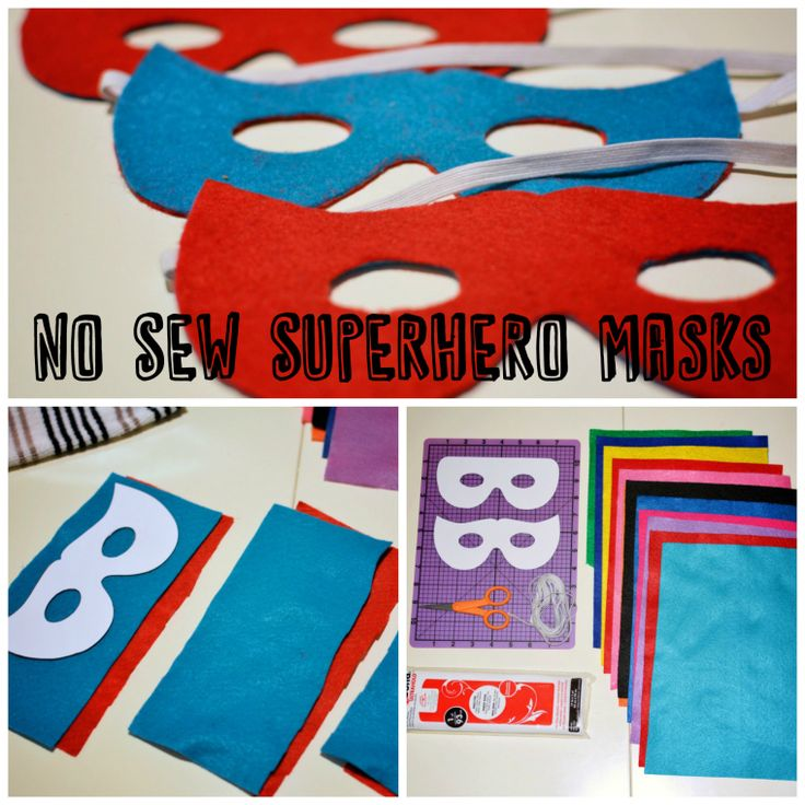 No Sew Superhero Masks