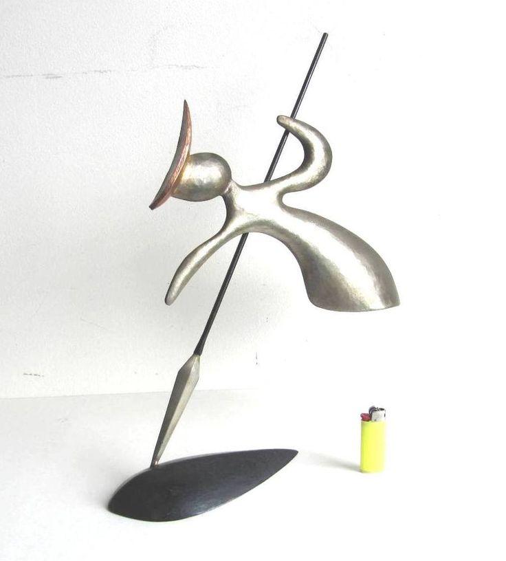 Abstrakt Modern Art große Plastik Skulptur 50iger Jahre Eisen gehämmert Künstler