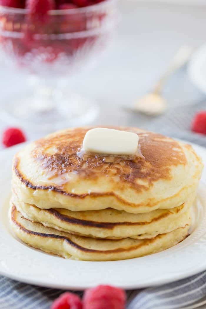 Homemade Sour Cream Pancakes So Fluffy Easy Oh Sweet Basil Recipe Sour Cream Pancakes Homemade Sour Cream Sour Cream