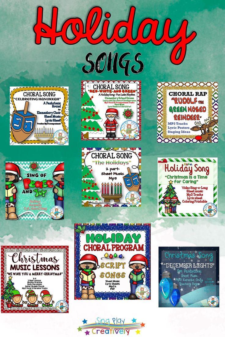 Holiday music concert resources for the elementary music teacher or choir teacher.  https://www.teacherspayteachers.com/Product/Holiday-Choral-Song-The-Holidays-2-pt-Elementary-Choir-1352749