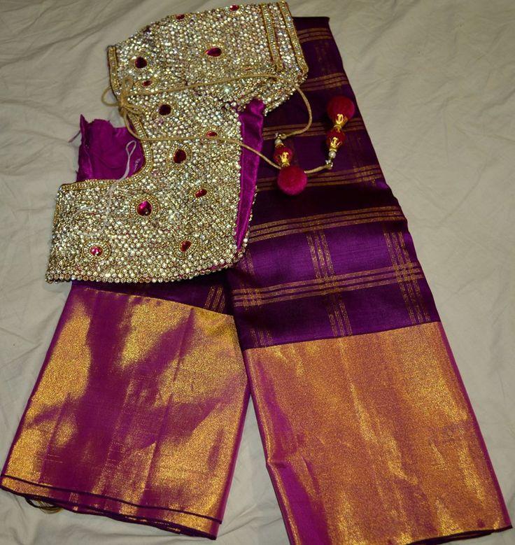 Kanchi Saree With Designer Blouse | Buy online sarees | Elegant Fashion Wear Price:28200 #latest #kanchi #saree #designer #blouse