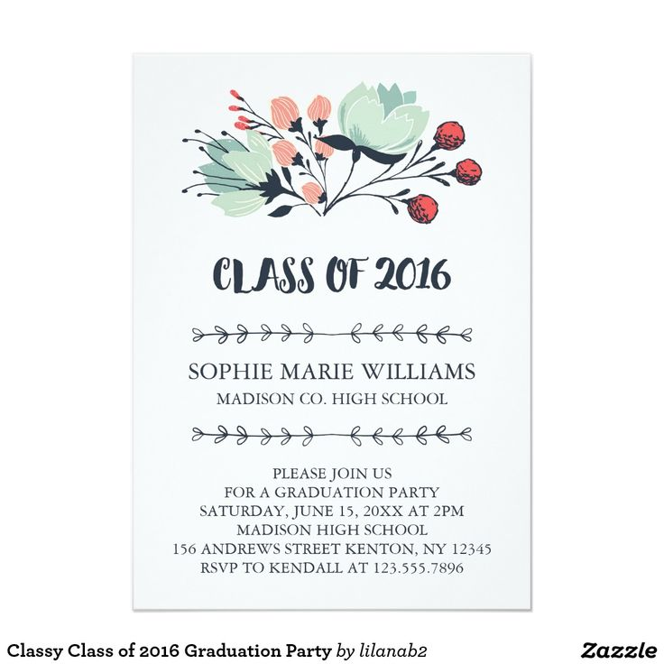 217 best zazzle sales images on pinterest baby shower invitations classy class of 2016 graduation party card zazzle zazzle graduation classof2016 filmwisefo Gallery
