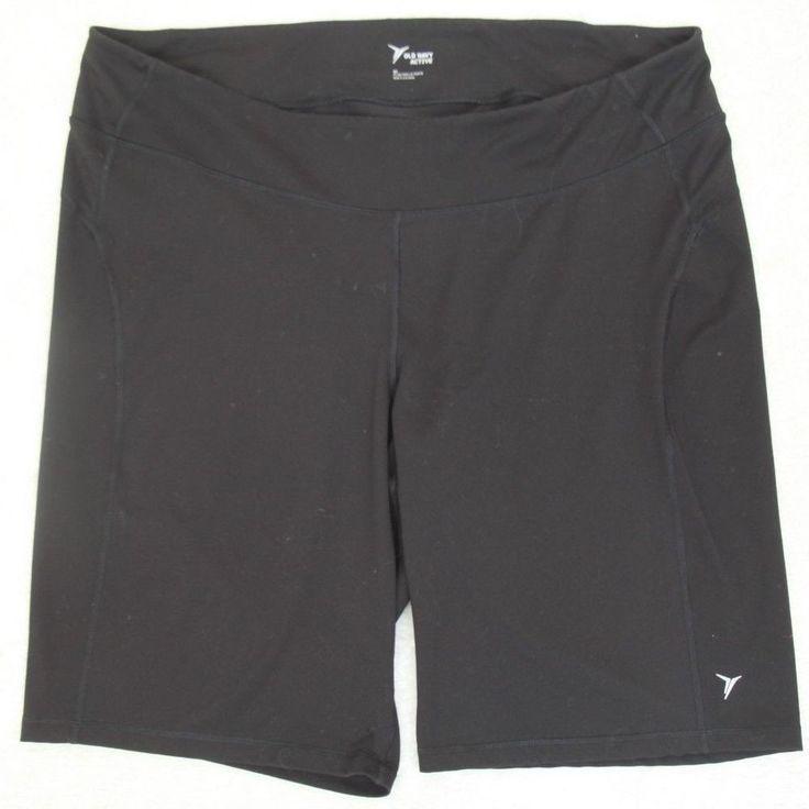 Old Navy Active Black Womens Shorts 4X Polyester Spandex Athletic Plus 44 x 11.5 #OldNavyActive #AthleticShorts