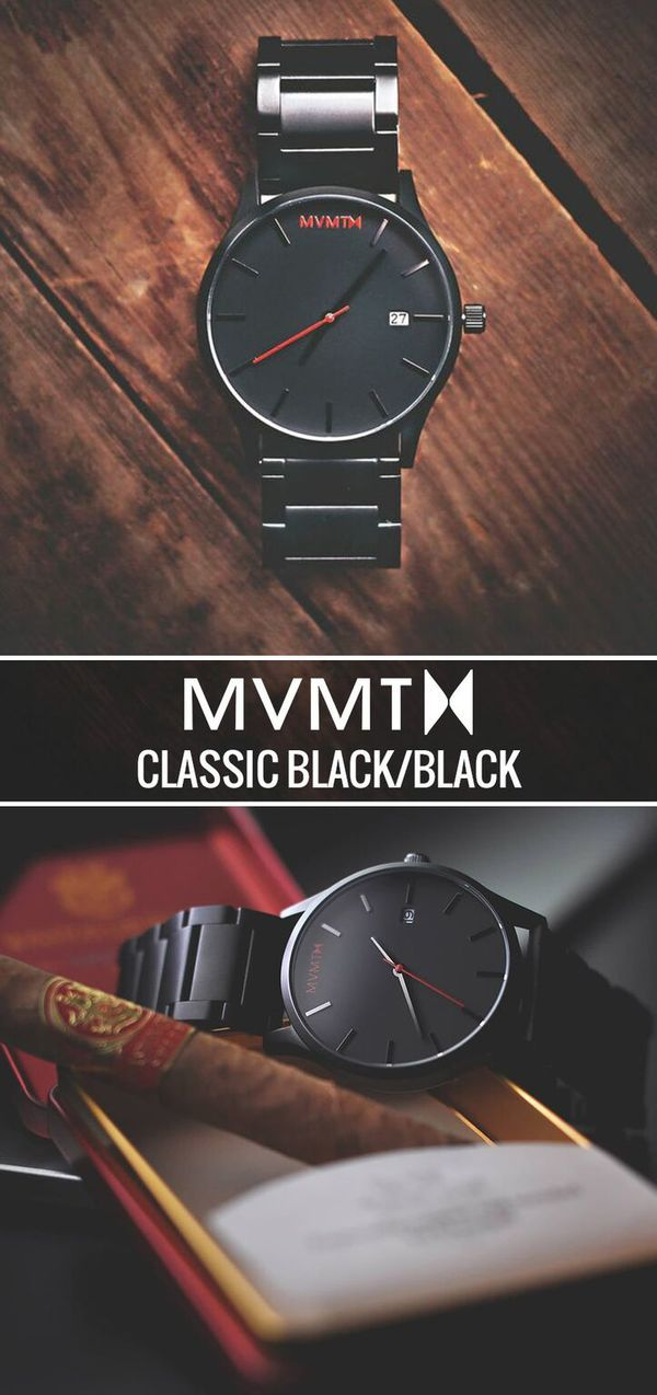 Why does GQ and Playboy rate MVMT Watches a must have timepiece? Because style shouldn't break the bank, and quality crafted minimalist products shouldn't cost a fortune. Your search for a perfect timepiece ends here. For just $100 this Black/Black watch is a must have. Compliments guaranteed. Click the buy button to get it now!