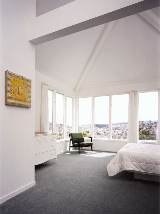 Bedroom Gray Carpet Design, Pictures, Remodel, Decor and Ideas