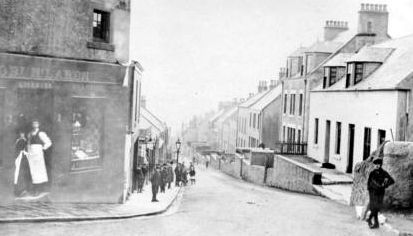 Old photograph of West High Street in Buckhaven, Fife, Scotland