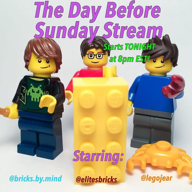The Day Before Sunday Stream is back tonight! Starring @legojear @elitesbricks and myself. This week @legojear is showing off his bald!  If you've never watched The Day Before Sunday Stream before it's a Saturday night live stream on YouTube starting @legojear @elitesbricks and myself. We talk about Lego Instagram and whatever else we want. We also respond to questions asked by followers so comment down below if you have anything you'd like us to answer during the stream. The stream starts…