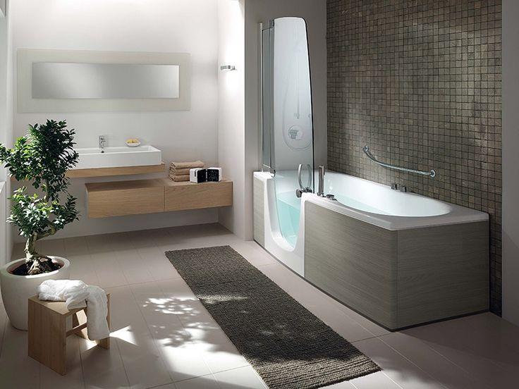 Oltre 25 fantastiche idee su bagno con doccia su pinterest - Vasca da bagno grigia ...