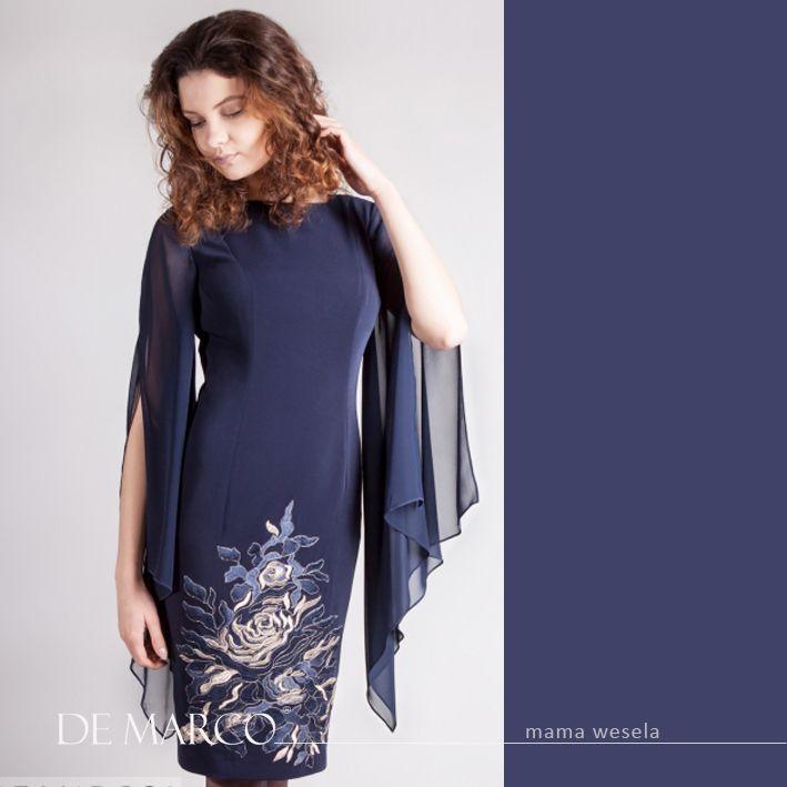 Szycie Na Miare On Line Dla Mamy Pana Mlodego Pani Mlodej Sukienka Ze Zlotym Haftem To Ekskluzywna Stylizacja Dla Mamy Wesela Fashion Dresses Shoulder Dress