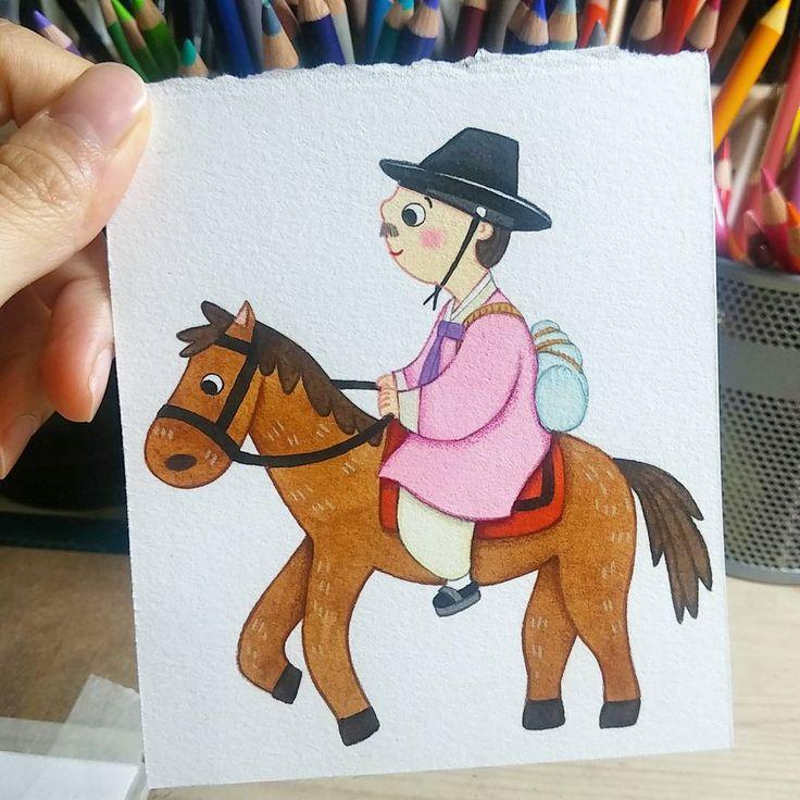 귀요미 #선비님 2 #illustration #일러스트 #character #사람