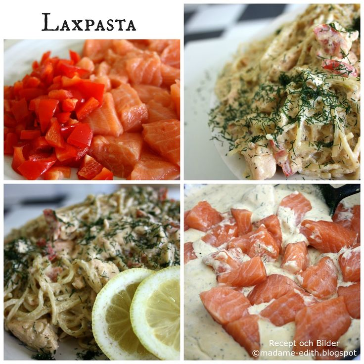 När det ska gå riktigt snabbt - Laxpasta - Detta recept ger ca 5 portioner   Börja med att koka 5 portioner spaghetti  Eller använd reste...