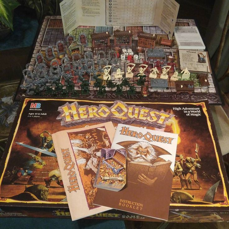 On instagram by jayy3l #heroquest #microhobbit (o) http://ift.tt/2fMh0uF this really cool late-80s board game at Goodwill tonight. It was apparently Milton Bradley's answer to D&D that they tried to get off the ground. Near-perfect condition every piece miraculously present and accounted for. Pretty cool stuff. @jakelauka