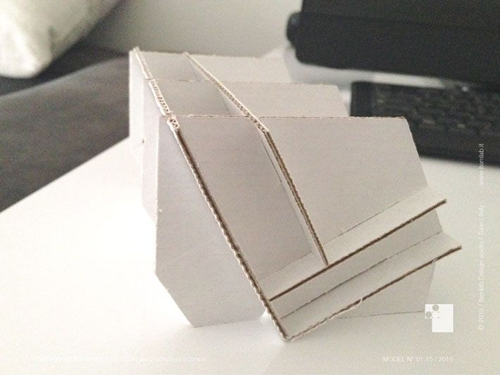 Cardboard furnitures by Valerio Campisi