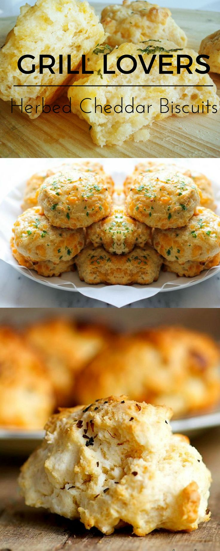 Grill Lovers' Amazing Herbed Cheddar Biscuits Recipe   #recipes #foodporn #foodie