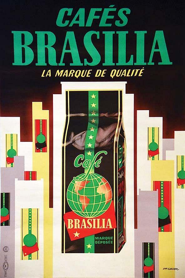 cafés Brasilia, la marque de qualité - 1960's - (E. Gaillard) -