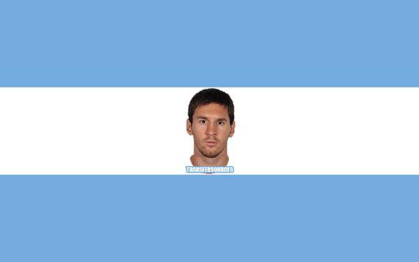 Insolite : Le nouveau drapeau de l'Argentine avec la tête de Messi - http://www.actusports.fr/107578/insolite-nouveau-drapeau-largentine-tete-messi/