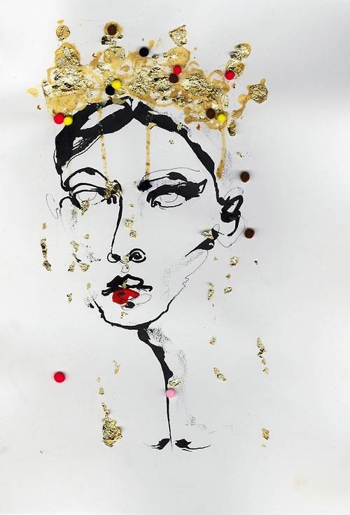 Dolce and Gabbana illustrated by Fiona Gourlay
