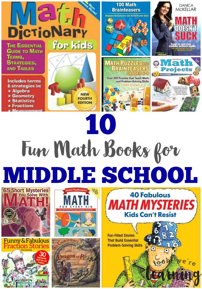 Fun Math Books for Middle School Your Kids Will Actually Like! - Perfect for kids who don't like studying math
