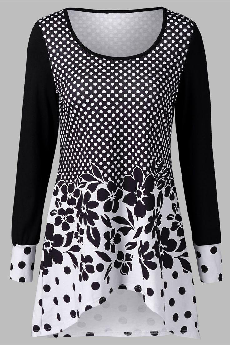 $20.64 Polka Dot and Floral T-Shirt