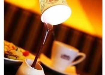 Dökülen Kahve Görünümlü Masa Lambası   www.hediyeulkesi.com
