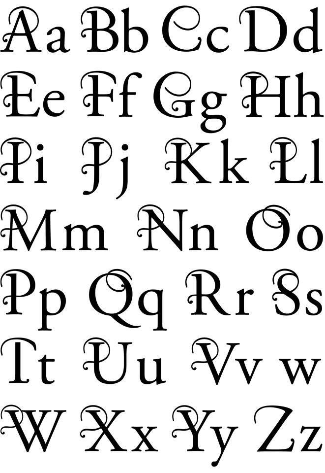 Alfabet Med Billeder Kreative Bogstaver Bogstaver Alfabet Bogstaver