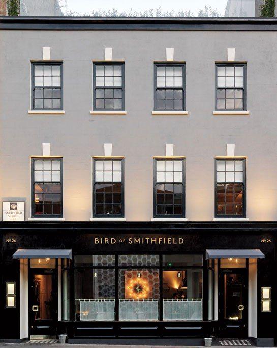 Chef Alan Bird's Bird of Smithfield is just steps away from London's popular Smithfield Market