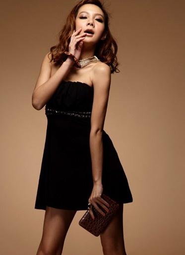 Fashionable Sequin Strapless Princess Dress Black: Dresses Black, Princesses Dresses, Minis Dresses, Cotton Dresses, Bareshould Dresses, Saia Mini-Sequins, Strapless Sequins, Sequins Strapless, Fashion Sequins
