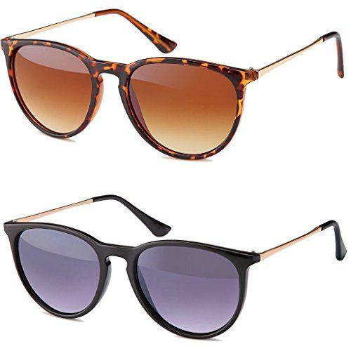 Vintage Sonnenbrille im angesagten 60er Style - Retro Clubmaster Brillen Brillentrends 2015 (1. schwarz - smoke)