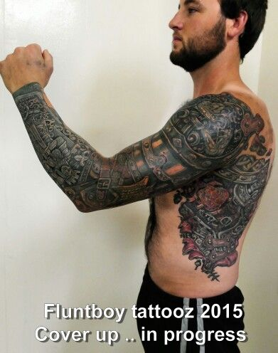 Freehand Cover up in progress
