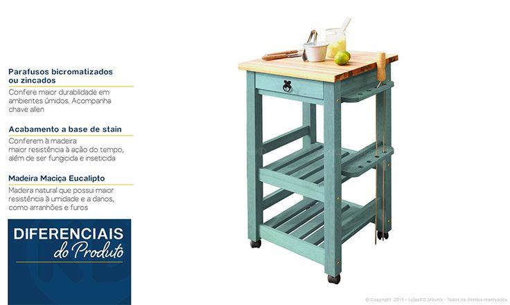 Compre Varanda Gourmet Decorada com Mesa, Cadeiras, Banco, Carro Auxiliar para Churrasco e Aparador Nogueira/Azul - Combine + em Promoção com ✓ Até 12x ✓ Fretinho