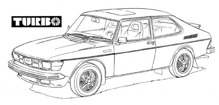 Vintage Saab 900 Turbo Coloring Images, Visit saabplanet