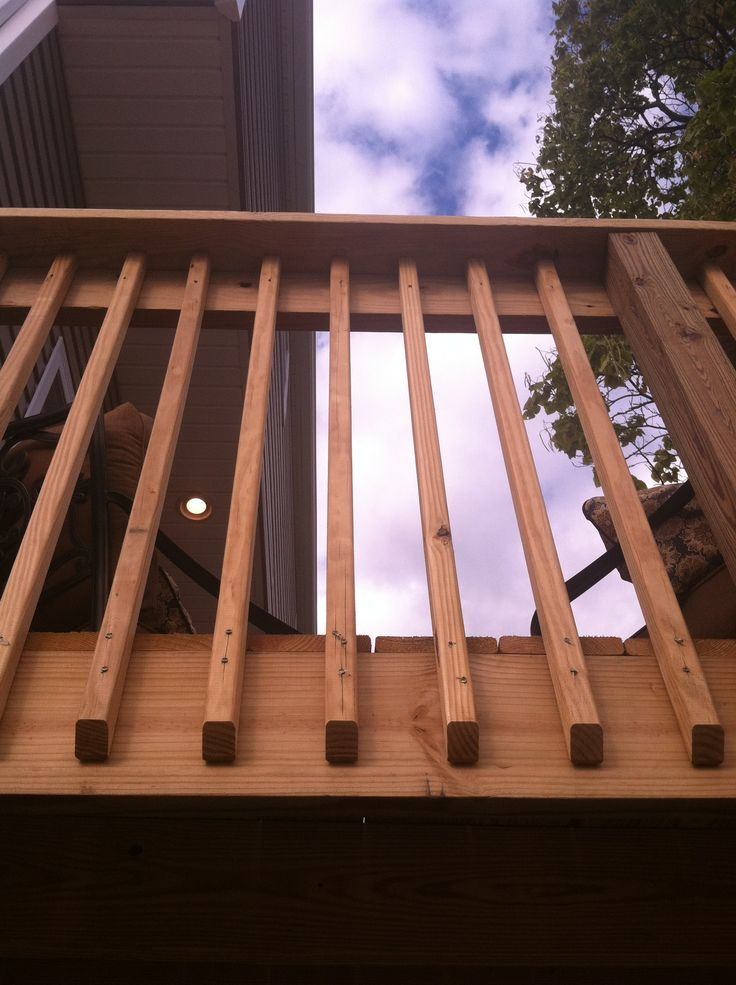 how to put railing on a deck