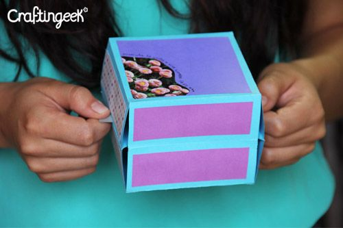 Tarjeta *Pop* Explosiva - Rubber band Scrapbook DIY