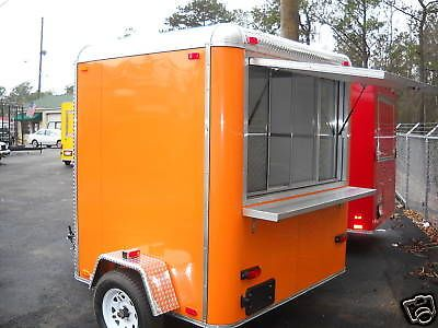2014 6 x 7 New Concession Trailer | eBay 4,995.00 local pick-up in GA  fits 10x10 vender fair space. Would work very well for coffee stand.