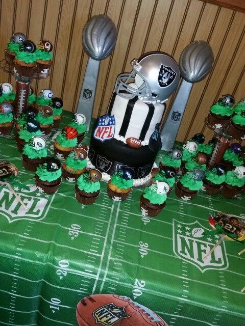 Raiders Football Cake For My Kiids Birthday Party