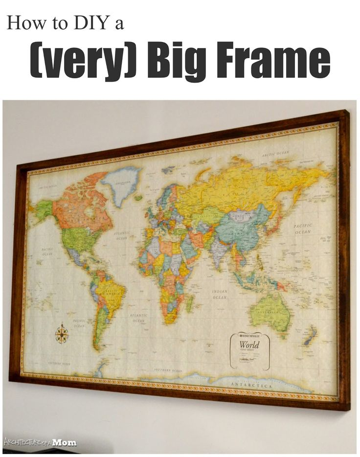 13 best maps images on pinterest framed maps for the home and architecture of a mom easy wood frame for large format art gumiabroncs Images