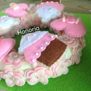 Muffinos, cukros, virágos-AJTÓDÍSZ (Honoria) - Meska.hu