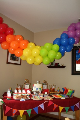 Rainbow decoration - for an archway in the carport