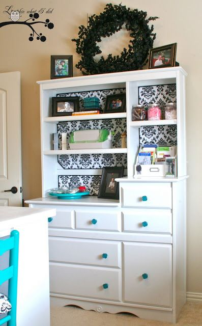 Lookie What I Did: Re Purposed Baby Hutch And Updated Craft Room. Like ·  Baby Changing TablesChanging Table ...