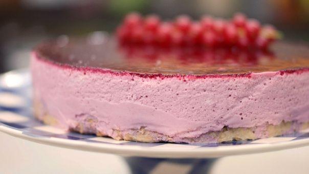 Eén - Dagelijkse kost - bavaroistaart met rood fruit en witte chocolade