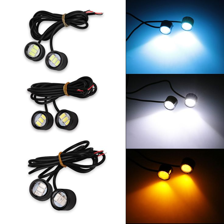 2pcs 12v Motorcycle Strobe Light Warning Lamp Decorative White Motorbike Motor 12v Motorcycle Led Strobe Flash Warning Light #Affiliate
