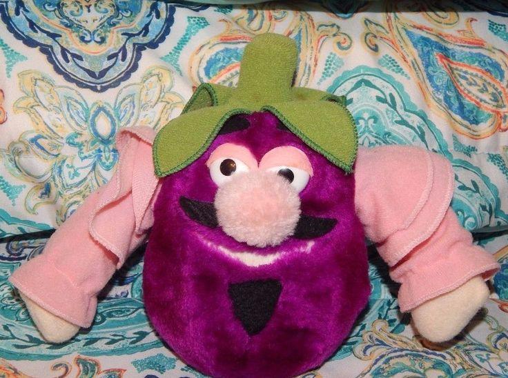 Rare Vintage Disney World Mr Eggplant Epcot Kitchen Kabaret Plush Vegetable 1982 #Disney