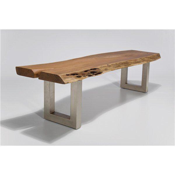 Nature Line bench   Robin Classic   houten bank met metalen poten