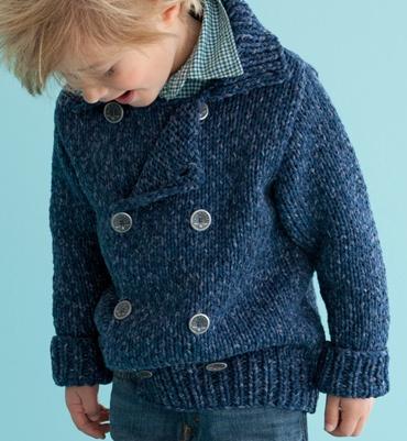 Indeed multicolored cloak model - Models knit child - Phildar